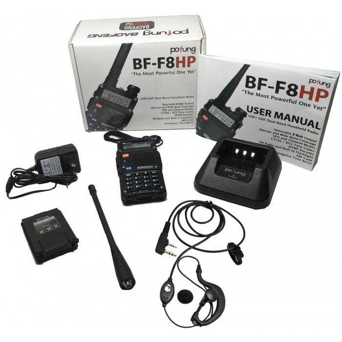 Radio Portatil Baofeng BF-F8HP Banda Dual VHF/UHF